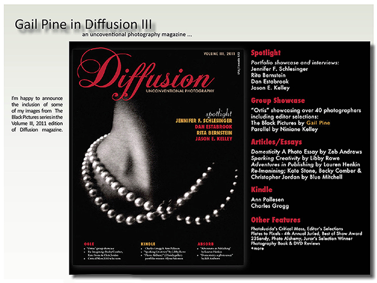 Diffusion Magazine art review of Gail Pine
